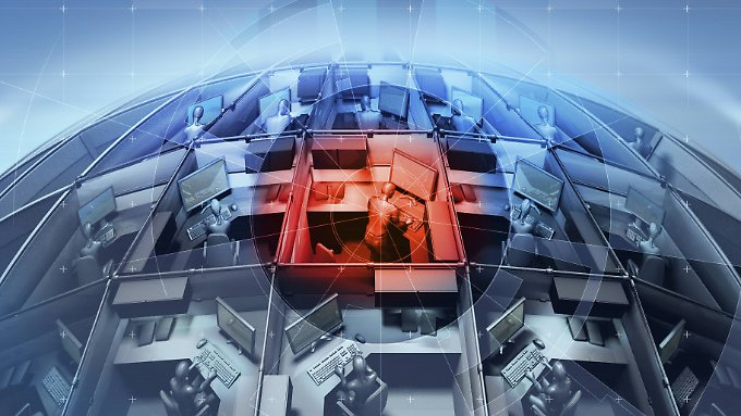 Ein infizierter Rechner im Unternehmensnetzwerk kann alle anderen Computer infizieren.