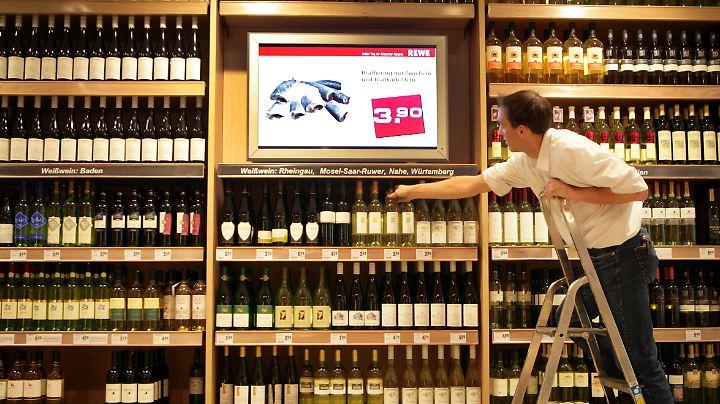 Gute Weine gibt es inzwischen auch in Discountern und Supermärkten.