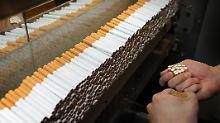 Der Staat hat im vergangenen Quartal mehr Steuern von der Tabakindustrie eingenommen.