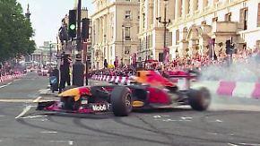 Riesen Show von Vettel und Co.: In London lässt die Formel 1 den Asphalt brennen