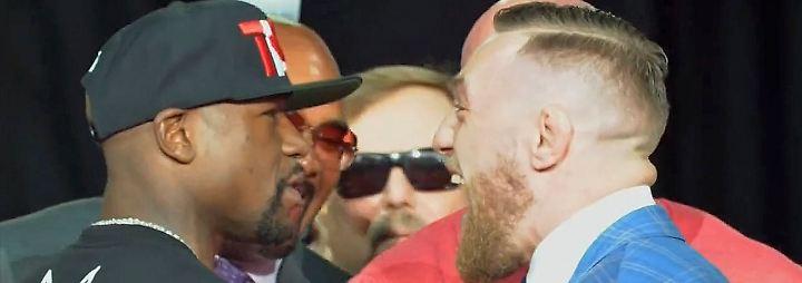 Heißmachen für Mayweather-Showdown: McGregor boxt verbal unter der Gürtellinie