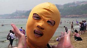 Verhüllen für die Schönheit: Chinesinnen schwören auf Facekinis