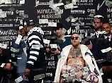 Mayweather vs McGregor: Im Prügelzirkus fliegen Dollar statt Fäuste
