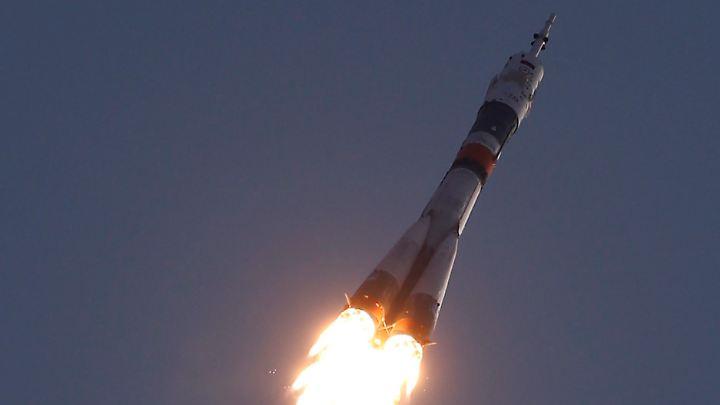 Eine Sojus-Rakete beim Start.