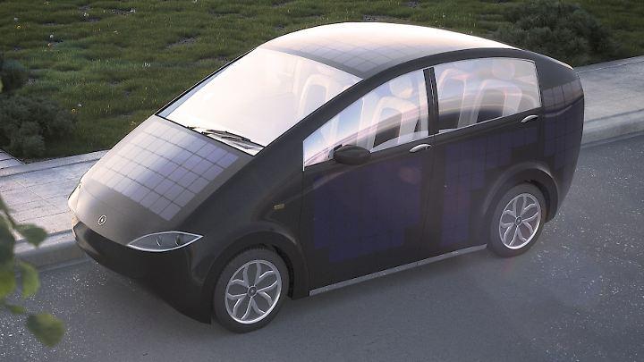 Ein altes Modell des Solarzellenautos Sion vom Start-up Sonomotors. Ein neues Modell wird am 27. Juli vorgestellt.