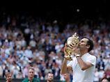 """""""Magischer"""" Tennis-Superlativ: Federer gewinnt Rekord-Titel in Wimbledon"""