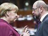 Fernduell der Kandidaten: Schulz perlt an der Kanzlerin ab