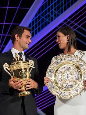 """I can't dance"": Federer und Garbine Muguruza"