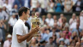 """""""Wimbledon bedeutet mir alles"""": Federer schreibt einmal mehr Tennisgeschichte"""