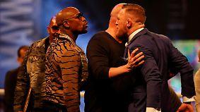 Verbaler Schlagabtausch: Mayweather und McGregor stimmen sich auf Boxkampf ein