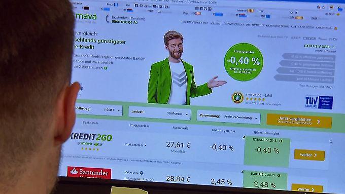 Was ist dran am Negativkredit?: Online-Portal lockt mit -0,4% Zinsen