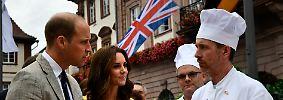 Kate und William in Heidelberg: Brezelbacken und Ruderbootrennen