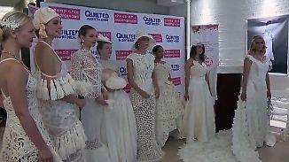 Kaum zu glauben, aber wahr: In New York wird das schönste Brautkleid aus Toilettenpapier gesucht