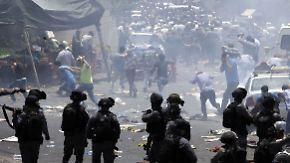 Eskalation am Tempelberg: Palästinenser beenden diplomatische Kontakte zu Israel