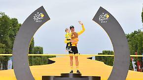 Triumphfahrt durch Paris: Froome gewinnt zum vierten Mal Tour de France