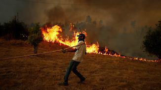 Waldbrände in Frankreich und Portugal: Flammen treiben immer mehr Menschen in die Flucht
