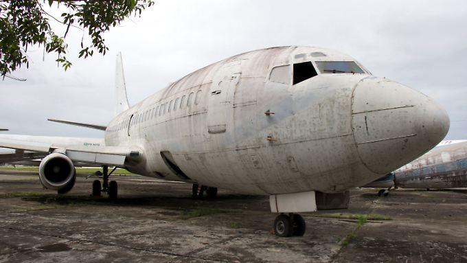 """Die 1977 entführte """"Landshut"""" steht flugunfähig in Brasilien."""
