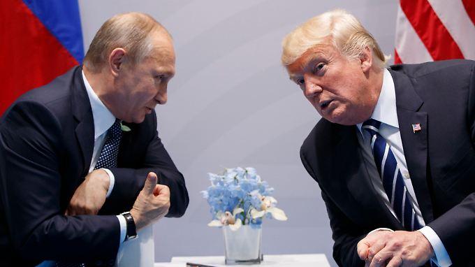 Wladimir Putin und Donald Trump beim G20-Gipfel in Hamburg.