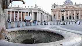 Im Vatikan wurden bereits alle Brunnen abgeschaltet.