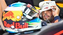 Wehrlein crasht im F1-Training: Ricciardo top, Vettel hängt Hamilton ab