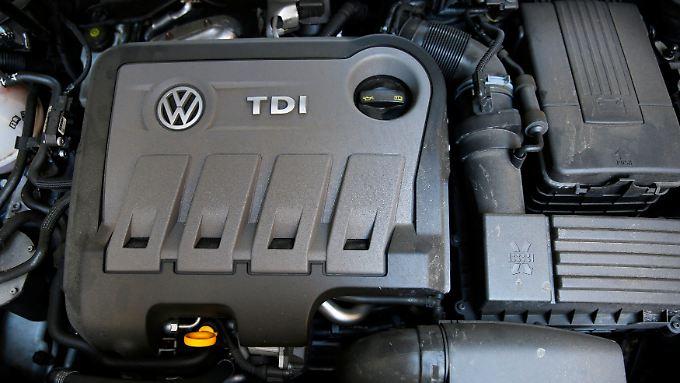 Ein Diesel-Motor von VW.