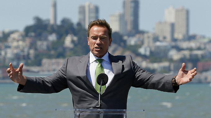 Bis um ein Uhr nachts sich vorm Kamin weitergebildet: Arnold Schwarzenegger.
