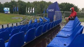 """Highlights von den European Open: Tief """"Bernhard"""" bringt zweiten Golf-Tag durcheinander"""