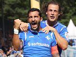2. Liga: Lehrgeld für Regensburg: Union ernüchtert FCI, Darmstadt feiert