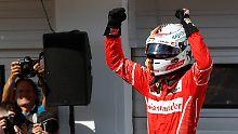 Hitzige Ferrari-Festspiele: Vettel rast mit Handicap zum Ungarn-Sieg