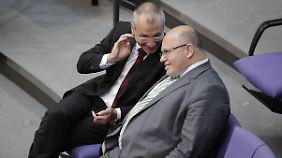 Zwei, die sich verstehen: Volker Beck und Peter Altmaier.