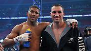 ... und Joshua sich bei einem der größten Boxer der Geschichte für die Möglichkeit bedankte, gegen ihn antreten zu dürfen.