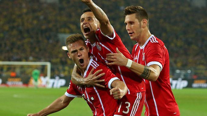 """""""Eine Wohltat"""", meint Thomas Müller zum Supercup-Sieg gegen Borussia Dortmund."""