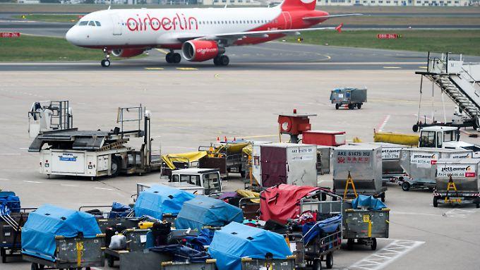 Fluggesellschaft in der Kritik: Bei Air Berlin häufen sich die Fälle von verlorenen Gepäckstücken.