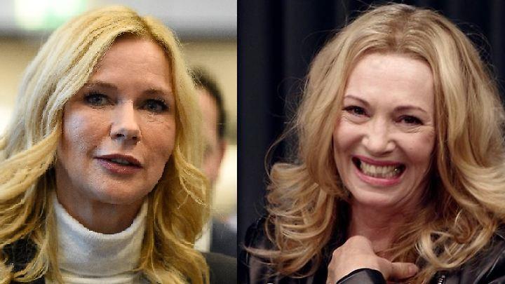 Sie sagt, es sei einfach eine Rolle mit blonder Perücke, doch Iris Berbens Kathrin Ferrante (r.) erinnert gewaltig an Veronica Ferres (l.).
