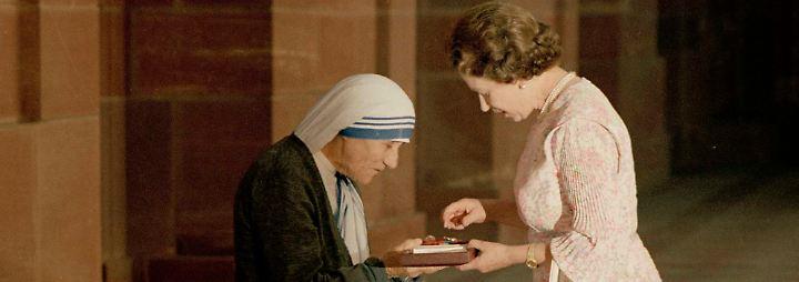 ... oder die britische Königin Elizabeth II. traf, wie hier 1983.