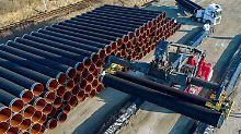 Durch die Ostsee-Pipeline Nord Stream 2 wird Erdgas direkt von Russland nach Deutschland transportiert.