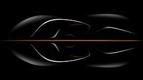 Nur zu erahnen: Der McLaren P23 ist als Dreisitzer geplant.