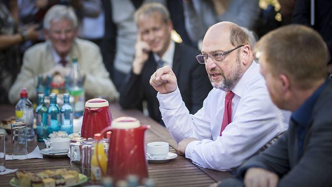 Schulz beim Besuch in Jena