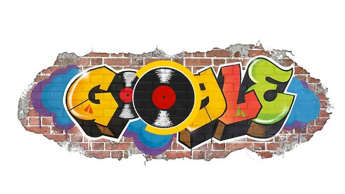 So sieht das Google-Logo am Hip-Hop-Tag aus.
