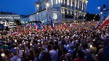 Zehntausende demonstrierten gegen die Justizreform - erfolglos.