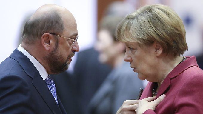 Angela Merkel scheint Gegenkandidat Martin Schulz nicht besonders ernst zu nehmen.