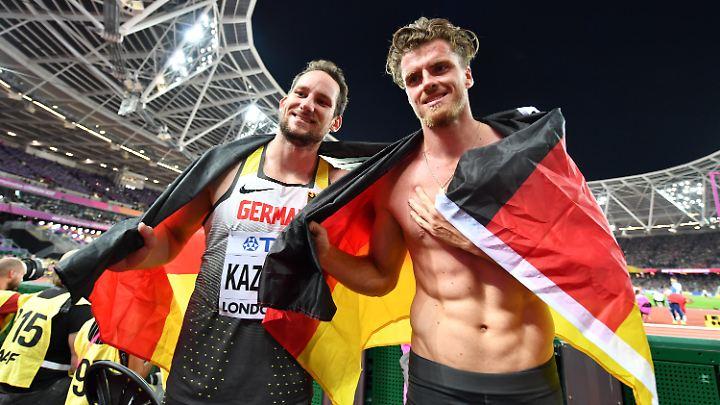 Silber und Bronze:  Rico Freimuth und Kai Kazmirek.