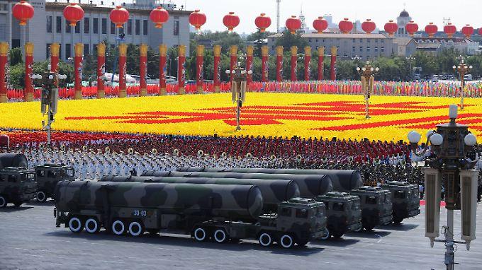 Seit Jahrzehnten steigen die chinesischen Rüstungsausgaben.