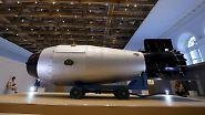 Mit der Zaren-Bombe - hier ein Nachbau - ist sie auch für den Test der mächtigsten Kernwaffentest allerzeiten verantwortlich.