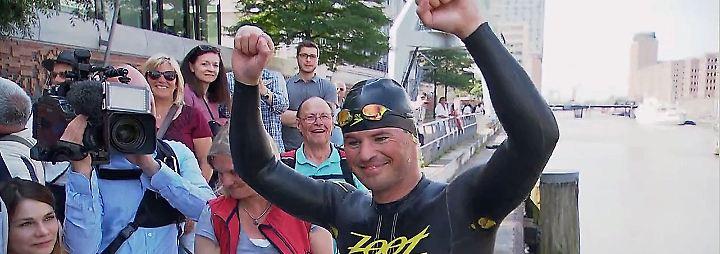 In Hamburg angekommen: Sachse bezwingt schwimmend 620 Kilometer Elbe