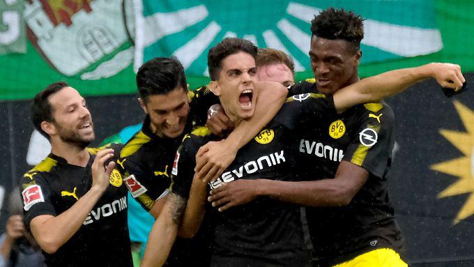 Dortmunds Marc Bartra traf gegen Wolfsburg per Traumtor.