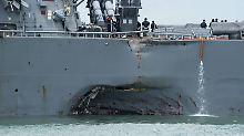 Nach Kollision bei Singapur: US-Marine stoppt alle Schiffseinsätze