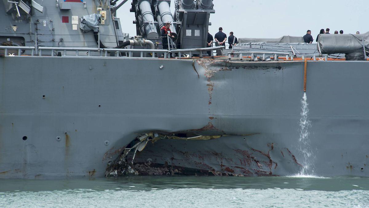 US-Marine stoppt alle Schiffseinsätze
