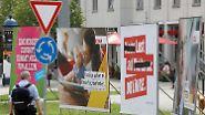 Straßenlaterne statt Internet: Wahlplakate sollen Unentschlossene überzeugen