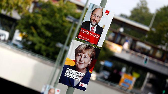 Aktueller Wahltrend: Martin Schulz holt ein bisschen auf